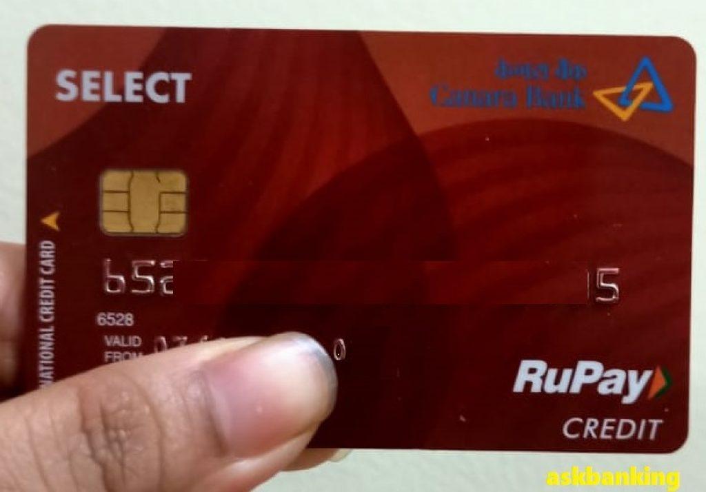 Canara Select Rupay Credit Card